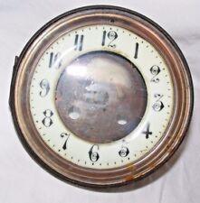 Reloj De Bronce Antiguo Esmalte Cara Con Bisagras Ventana de Cristal Frontal Reg no 2167 marcado un
