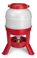 LARGE 30 LITRE STURDY EUROPEAN STANDING FEEDER for Chicken HEN Chook POULTRY