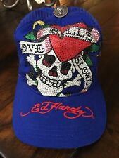 ED HARDY KILLS LOVE SLOWL RHINESTONES LOGO EMBROIDERED TRUCKER HAT 100%AUTHENTIC