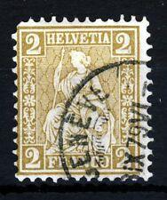 SWITZERLAND 1874 Seated Helvetia 2 Cents Drab SG 61 VFU