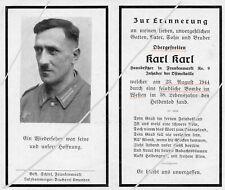 STERBEBILD   AVIS DE  DECES  SOLDAT  ALLEMAND  1944  ( 255 )