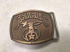 Vintage Ararat Brass Belt Buckle