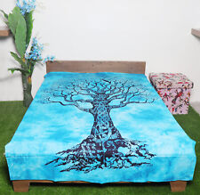 Mandala Tapestry Single Size Cotton Tree Of Life Sky Blue Wall Decor Wallhanging