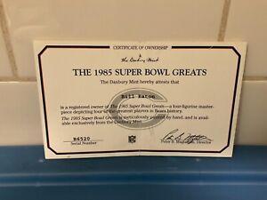 Danbury Mint  -  Chicago Bears ....... The 1985 Super Bowl Greats  -   C.O.A