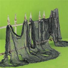 Halloween Party Festival Scary Black White Gauze Cloth Door Window Decoration