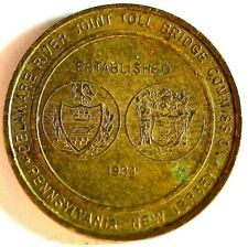 1934 Delaware River Joint Toll Bridge Commission Pennsylvania-New Jersey Token.