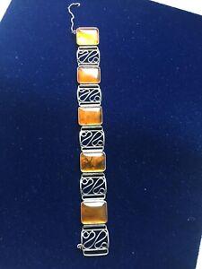 Antik Armband Bernstein 835 Silber Fischland
