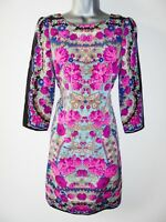Stunning Warehouse Floral Print Symmetrical Shift Evening Occasion Dress Size 8