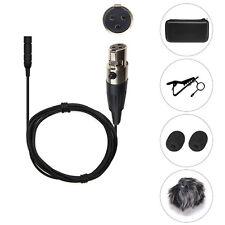 PROFESSIONAL LAPEL MICROPHONE 3 PIN MINI XLR FOR AKG PT40 PT60 PT80 TRANSMITTER