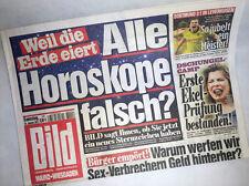 Bildzeitung vom 15.01.2011 zur Geburt * Geschenk * Dschungelcamp * Taufe * BVB