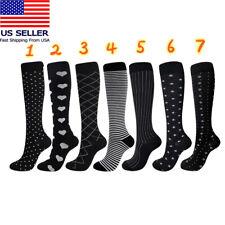 Compression Socks Stockings Womens Mens Knee High Medical 20-30 mmHG S/M-X/XL