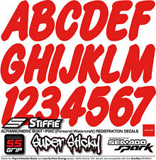 STIFFIE Whip-One WO34-SS Sea-Doo Spark Boat Registration Numbers Decals LAVA