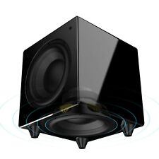 "Nero Dual X8 8"" 300W  Dynamic Powered Subwoofer w/ Active and Passive Woofers"
