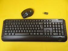 Funktastatur+Funkmaus/Reichweite bis zu 5 m und USB-Empfänger/2,4 GHz/SW/QUERTZ
