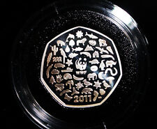 2011 ROYAL MINT WORLD WILDLIFE FUND SILVER PROOF 50p COIN IN CAPSULE