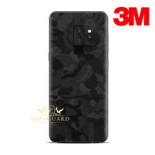 SopiGuard 3M Black Camo Vinyl Skin Rear Panel Wrap for Samsung S9+ Plus