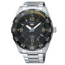 Seiko 5 Sports Automatic Black Dial Silver Steel Men's Watch SRPB83K1