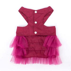 Sweet Pet Dress Small Dog Puppy Bow Lace Princess Mesh Dress Veil Skirt Clothes