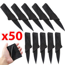 x50 Lot Credit Card Thin Knives Cardsharp Wallet Folding Pocket Micro Knife