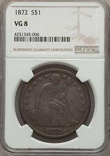 1872 $1 VG8 NGC (1176)