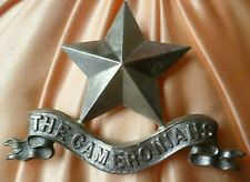 1st Cameronians Pipers Badge 60 mm WM 3 Lugs ANTIQUE Original