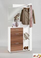 Garderobe Wandgarderobe Flurkommode Flurschrank Flurmöbel G108 Weiß Nussbaum