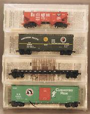 Micro-Trains Fallen Flags SP&S, GN,NP,CB&Q   4-pack  21212