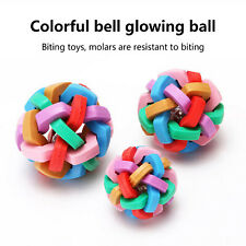 Pet toy colorful bell ball bell sound toy ball tease pet toy plastic ball toy
