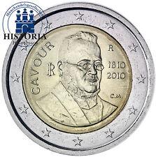 Italie 2 euro pièce commémorative 2010 BFR. Camillo Benso comte de Cavour