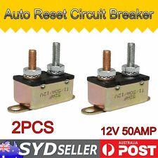 50A Stud Bolt Metal Auto Circuit Breaker Fuse Reset Automatic Dual Battery 2pcs