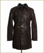 Trench Coats & Jackets Brown Leather Outer Shell for Men