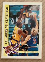 NBA MAGIC JOHNSON Lakers Skybox Hoops 1993 More Magic Trading CARD #MM3