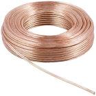 50 m Premium OFC Cobre Cable de altavoz 2 x 2,5 mm² transparente