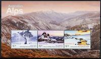 Australia Landscapes Stamps 2020 MNH Australian Alps Mountains Trees 3v M/S