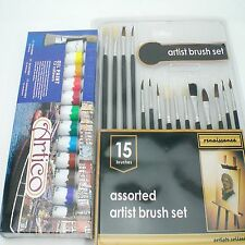 24pc Artists Oil Paints Set Hobbies Crafts Model Making Pictures Equipment Kit
