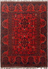 """Vintage Hand-Knotted Carpet 3'3"""" x 4'8"""" Traditional Oriental Wool Area Rug"""