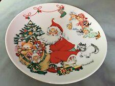 "1973 Goebel Charlot Byj 1st Edition Christmas Plate West Germany 8.5"""