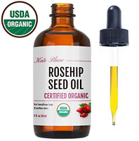 Rosehip Seed Oil by Kate Blanc. USDA Certified Organic, 100% Pure, Cold Pressed,