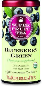 Blueberry Green Tea by The Republic of Tea, 50 tea bag