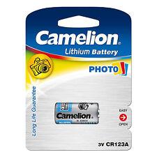 10 x Camelion CR123A 3V Lithium Photo Battery 123 CR123 DL-CR17345 Camera NEW