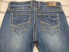 BKE Buckle Jeans Sabrina 28L X 33 1/2 Low Rise Straight 6 X 33.5 R m2 NICE~!