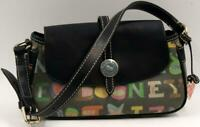 Dooney & Bourke rainbow zip bag Vintage Coated Leather Shoulder Bag