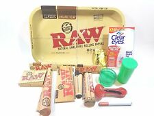 RAW TRAY COMBO 14 ITEMS ROLLING PAPERS, GRINDER, TRAY
