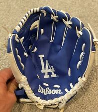 "Wilson A02RB16LAD MLB Youth T-Ball Glove 10"" LA Dodgers -Blue Right Hand Thrower"