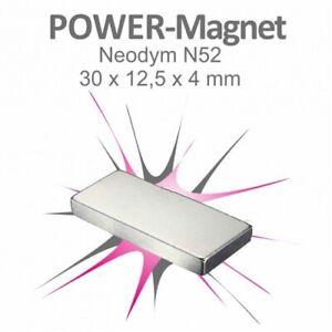 Neodym Magnet Quader 30x12,5x0,4mm N52 Mini Magnete Magnetleiste Flach Leiste