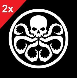 Hydra Logo Sticker Vinyl Decal Marvel Agents of Shield Avengers Red Skull