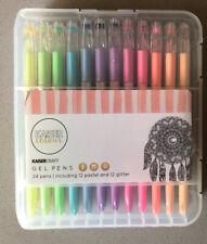 Kaiser Craft Gel Pens Pastel Glitter Color Drawing Sketching Planner 24 Pack EUC