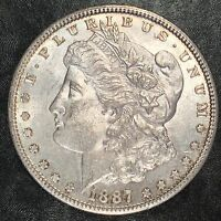 1887-S Morgan Silver Dollar - Nearly Uncirculated - High Quality Scans #E554