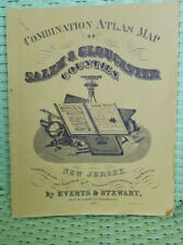 Combination Atlas Map of Salem & Glouchester Counties, New Jersey from 1876.
