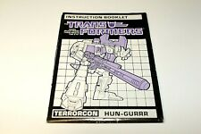 TERRORCON - HUN-GURRR  - INSTRUCTION BOOKLET